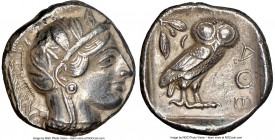 ATTICA. Athens. Ca. 440-404 BC. AR tetradrachm (24mm, 17.03 gm, 2h). NGC Choice XF 5/5 - 3/5. Mid-mass coinage issue. Head of Athena right, wearing cr...