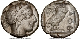 ATTICA. Athens. Ca. 440-404 BC. AR tetradrachm (23mm, 16.88 gm, 7h). NGC Choice XF 5/5 - 2/5, brushed, light-weight specimen. Mid-mass coinage issue. ...
