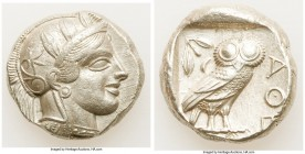 ATTICA. Athens. Ca. 440-404 BC. AR tetradrachm (23mm, 17.3 gm, 9h). XF. Mid-mass coinage issue. Head of Athena right, wearing crested Attic helmet orn...