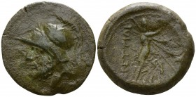 Bruttium. The Brettii circa 211-208 BC. Reduced Sextans Æ