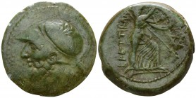 Bruttium. The Brettii circa 211-203 BC. Reduced Sextans Æ