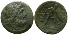 Bruttium. The Brettii circa 211-208 BC. Reduced Uncia Æ