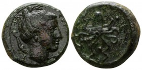 Sicily. Syracuse. Second Democracy 466-405 BC. Tetras AE