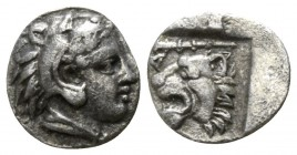 Kings of Macedon. . Archelaos  419-399 BC. Obol AR, reduced standard.