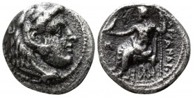 "Kings of Macedon. Babylon. Alexander III ""the Great"" 336-323 BC, (struck under Stamenes or Archon, circa 324/3 BC).. Hemidrachm AR"