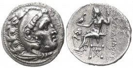 "Kings of Macedon. Kolophon. Alexander III ""the Great"" 336-323 BC, (struck circa 310-297 BC).. Drachm AR"