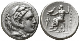 "Kings of Macedon. Lampsakos. Alexander III ""the Great"" 336-323 BC, (struck circa 328/5-323 BC). . Drachm AR"