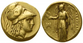 "Kings of Macedon. Miletos. Alexander III ""the Great"" 336-323 BC, (struck under Philoxenos, circa 325-323 BC).. Stater AV"