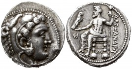 "Kings of Macedon. Myriandros or Issos. Alexander III ""the Great"" 336-323 BC, (struck under Menes or Philotas, circa 325-324/3 BC).. Tetradrachm AR"