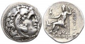 Kings of Thrace. Kolophon. Lysimachos 305-281 BC. In the types of Alexander III of Macedon. Struck circa 299/8-297/6 BC.. Drachm AR