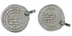 Islamic. Iran. Samanids. Mansur I ibn Nuh, AD 961-976 (AH 350-365). АR dirham (31mm, 4.08g (with loop)), al-Shash AH 357 (AD 967/8). Fine, with loop.