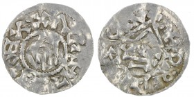 Czech Republic. Bohemia. Boleslav I. 929-967. AR Denar (20mm, 0.95g). Prague mint. +BOLEZLΛVDVX•, hand of providence descending / +PRAGACLV, temple, a...