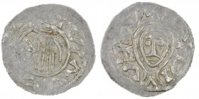 Czech Republic. Bohemia. Boleslav II 967 - 999. AR Denar (20mm, 1.51g). Prague mint. +BΛCZLVIΛ+(?), hand of providence descending from clouds, arrowhe...