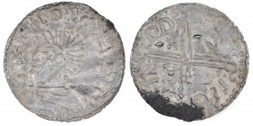 Scandinavia. AR Penning (20mm, 1.63g). Imitation of Aethelred II long cross type. Uncertain mint in Scandinavia. Diademed bust left / Voided long cros...