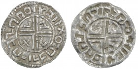 Scandinavia. AR Penning (21mm, 1.17g). Imitation of Aethelred II obverse crux type. Uncertain mint in Scandinavia. ⊐llXO¯Пᖵᛐl¯ПᖷzППОlX, short cross vo...