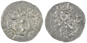 Germany. Hamburg area. After Ca 1063. AR Denar (17mm, 0.78g). Uncertain mint. Cross, in angles R-O-T-•/ HAN / BAR cross written, in half circles C-R-T...