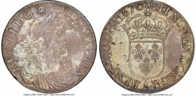 Louis XIV Ecu 1670-A XF Details (Environmental Damage) NGC, Paris mint, KM211.1, Gad-205 (R4). Scattered corrosion on the obverse, with spotting on th...