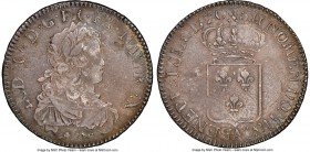 Louis XV Ecu 1720-A VF25 NGC, Paris mint, KM459.1, Dav-1328, Gad-319 (R). Struck over another coin with moderate marks. Sold with old collector's enve...