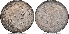 Louis XV Ecu 1725-I AU58 NGC, Limoges mint, KM472.10, Dav-1329, Gad-320 (R). Numerous adjustment marks, with obverse flan flaws and noticeable luster....