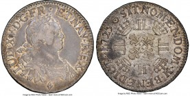 Louis XV Ecu 1725-K VF30 NGC, Bordeaux mint, KM472.11, Dav-1329, Gad-320 (R). Even wear for the date, with traces of luster and noticeable marks on th...