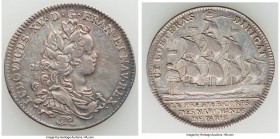 Louis XV silver Jeton ND VF, cf. Feuardent-4806 (for reverse), Obverse with baby head of Louis XV right. Sold with old collector envelope detailing pr...