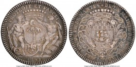 """Nantes-Port des Antilles"" silver Franco-American Jeton 1748 VF35 NGC, cf. Br-511 (different date), Lec-112a. Faintly reeded edge. Coin alignment. Obv..."