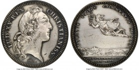 Louis XV silver Restrike Franco-American Jeton 1752-Dated MS63 NGC, cf. Br-512 (for type), Lec-Unl. Plain edge (stamped ARGENT). Medal alignment. Burn...