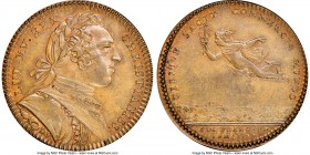Louis XV bronze Franco-American Jeton 1752-Dated MS63 Brown NGC, Br-512, Lec-116 var. (different bust, plain edge). Plain edge. Medal alignment. The g...