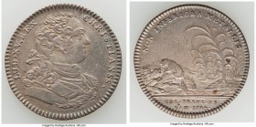 Louis XV silver Franco-American Jeton 1754 VF, Br-514, Lec-131. Very scarce. Sold with old collector envelope detailing provenance. Purchased from War...
