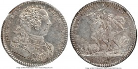 Louis XV silver Franco-American Jeton 1757-Dated MS62 NGC, Br-518, Lec-170a. Reeded edge. Medal alignment. Fully brilliant, and lustrous, with a hint ...