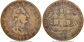 "Nova Scotia brass ""For the Convenience of Trade"" 1/2 Penny Token 1814 VG Details (Environmental Damage) NGC, Br-880, NS-8A2 (Extremely Rare). Plain ed..."