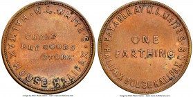 "Nova Scotia bronze ""W. L. White's - Halifax"" Farthing Token ND (1847) UNC Details (Environmental Damage) NGC, Br-899, NS-17A1. Plain edge. Coin alignm..."