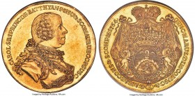 Batthyani. Karl gold 10 Ducat 1764 UNC Details (Obverse Spot Removed) NGC, Vienna mint, KM5 (Rare), Fr-550 (listed under Hungary), Horsky-Unl., Holzma...