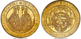 Salzburg. Maximilian Gandolph gold 8 Ducat 1668 MS63 S Prooflike NGC, KM202, Fr-800, Probszt-1595, Zöttl-1910. 27.80gm. In a word, stunning. That a co...