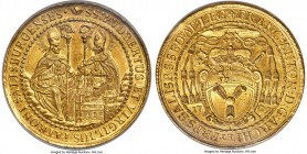 Salzburg. Franz Anton gold 10 Ducat 1709 MS62+ NGC, KM302 (Rare; this coin), Fr-840 (Rare), Probszt-1946, Numitor Collection-Unl., Zöttl-2335. 34.75gm...