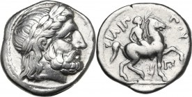 Continental Greece. Kings of Macedon. Philip II (359-336 BC). AR Tetradrachm, Amphipolis mint. Struck c. 316-311 BC. Obv. Head of Zeus right, laureate...