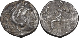 Continental Greece. Kings of Macedon. Alexander III 'the Great' (336-323 BC). AR Drachm. Colophon mint. Struck circa 310-301 BC. Obv. Head of Herakles...