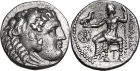 Continental Greece. Kings of Macedon. Alexander III 'the Great' (336-323 BC). AR Drachm. Miletus mint. Struck circa 295-275 BC. Obv. Head of Herakles ...