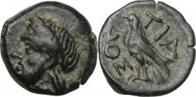 Greek Asia. Bithynia, Tium. AE 11 mm. Circa 350-300 BC. Obv. Head of Zeus left, laureate. Rev. Eagle standing left, wings closed. SNG Tübingen 2151. A...