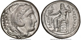MACEDONIAN KINGDOM. Alexander III the Great (336-323 BC). AR tetradrachm (26mm, 16.98 gm, 6h). NGC AU 5/5 - 2/5. Early posthumous issue of 'Amphipolis...