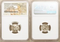MACEDONIAN KINGDOM. Alexander III the Great (336-323 BC). AR drachm (17mm, 4.33 gm, 12h). NGC AU 5/5 - 4/5. Early posthumous issue of Colophon, 310-30...