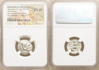 MACEDONIAN KINGDOM. Alexander III the Great (336-323 BC). AR drachm (18mm, 12h). NGC Choice XF. Posthumous issue of Colophon, 310-301 BC. Head of Hera...