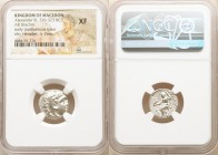 MACEDONIAN KINGDOM. Alexander III the Great (336-323 BC). AR drachm (16mm, 11h). NGC XF. Posthumous issue of 'Colophon', ca. 310-301 BC. Head of Herac...