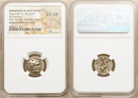 MACEDONIAN KINGDOM. Alexander III the Great (336-323 BC). AR drachm (17mm, 11h). NGC Choice VF. Early posthumous issue, Sardes, ca. 323-319 BC. Head o...