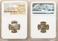 MACEDONIAN KINGDOM. Alexander III the Great (336-323 BC). AR drachm (18mm, 12h). NGC Choice VF. Posthumous issue of 'Colophon', 310-301 BC. Head of He...