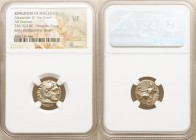 MACEDONIAN KINGDOM. Alexander III the Great (336-323 BC). AR drachm (16mm, 1h). NGC VF. Posthumous issue of Mylasa, ca. 310-300 BC. Head of Heracles r...