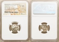 MACEDONIAN KINGDOM. Alexander III the Great (336-323 BC). AR drachm (18mm, 11h). NGC VF. Early posthumous issue of 'Colophon', 323-319 BC. Head of Her...