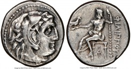 MACEDONIAN KINGDOM. Philip III Arrhidaeus (323-317 BC). AR drachm (17mm, 12h). NGC VF. Magnesia ad Maeandrum, ca. 323-319 BC. Head of Heracles right, ...