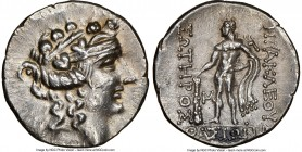 THRACIAN ISLANDS. Thasos. Ca. 2nd-1st centuries BC. AR tetradrachm (30mm, 11h). NGC AU. Ca. 148-90/80 BC. Head of Dionysus right, crowned with ivy, we...