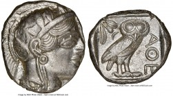 ATTICA. Athens. Ca. 440-404 BC. AR tetradrachm (25mm, 17.19 gm, 4h). NGC MS 4/5 - 4/5. Mid-mass coinage issue. Head of Athena right, wearing crested A...